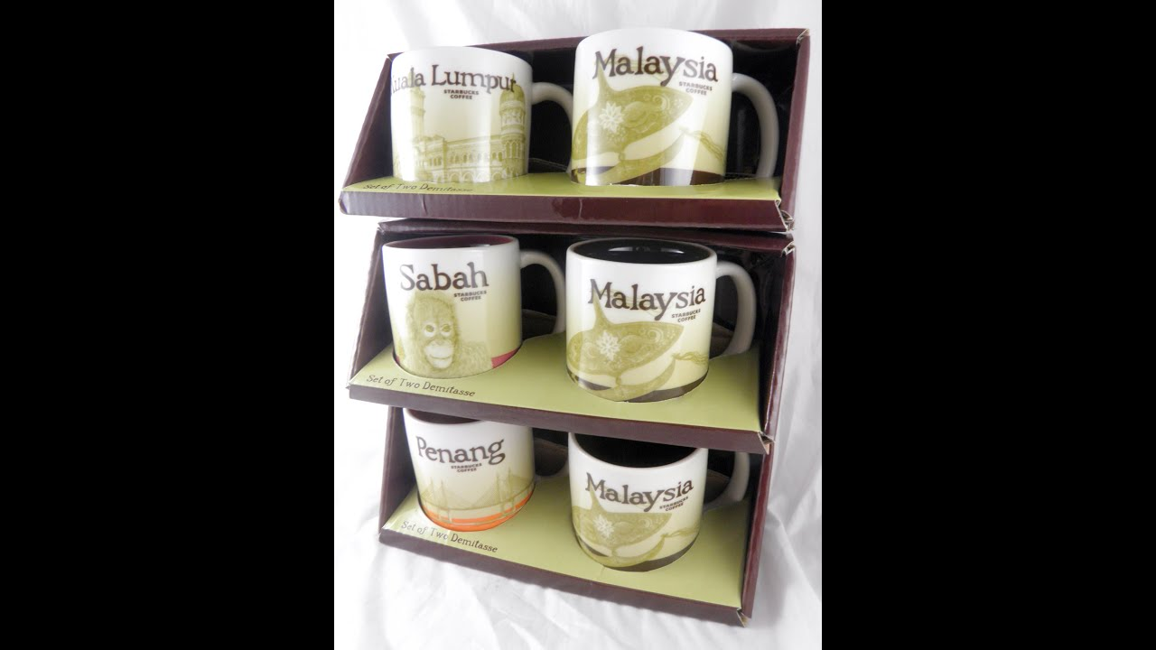 Global Oz Mug Malaysia Icon Starbucks Penang Set 3 Mini 3oz Demitasse Espresso A uJc135TlFK