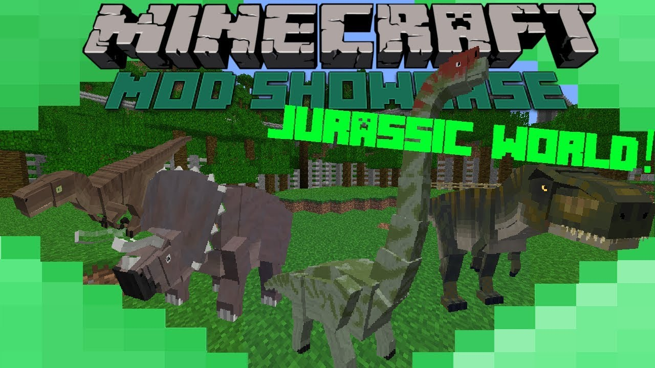 JURASSIC WORLD! - Minecraft Mod Showcase: Evolution Is Here