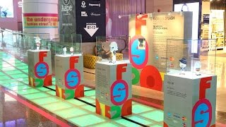 Fashionable Merlion Clay Figurines : Merlion Fashion Splash Exhibition @ OrchardGateway Singapore
