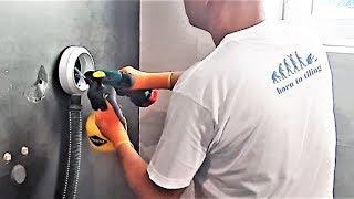 ▨ Jak čistě vrtat do tvrdé dlažby 1. / DIY adaptér / Obkladač Praha / How to drill into hard tiles 1