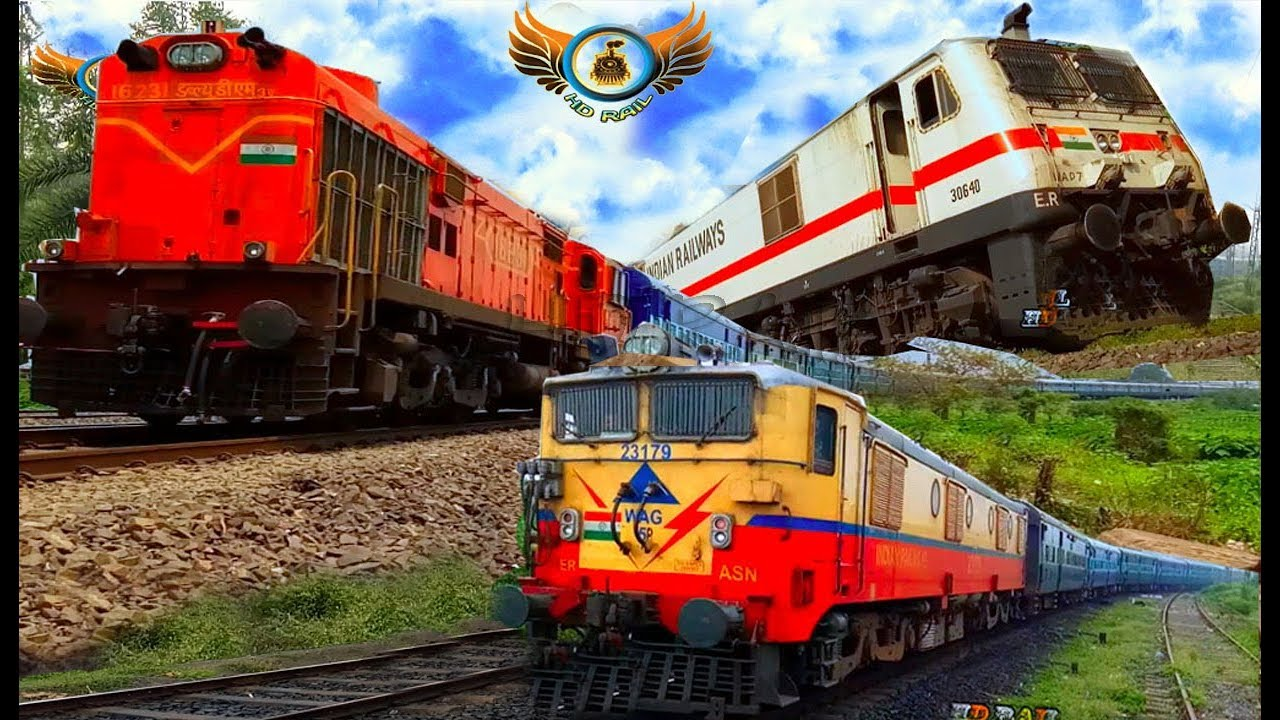 Mega Compilation Of One Side 38 Indian Train Videoes From