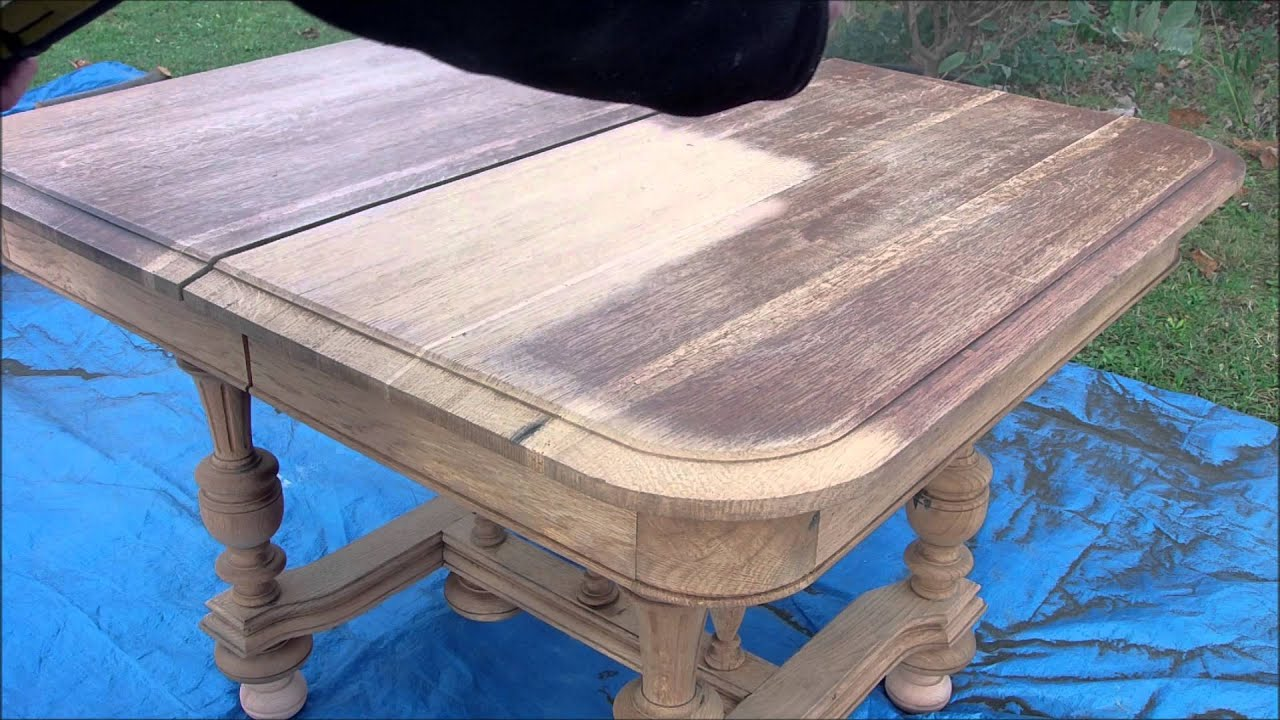 D capage d une table en noyer par a rogommage youtube - Patiner une table en chene ...