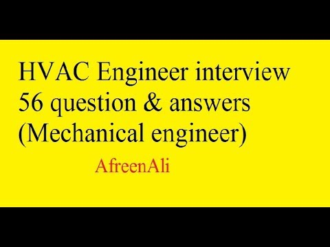 HVAC Engineer interview 56 question & answers (Mechanical engineer ...