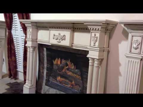 The Lewisburg Mantel (Glazed Antique Finish) - Custom FIreplace Mantels