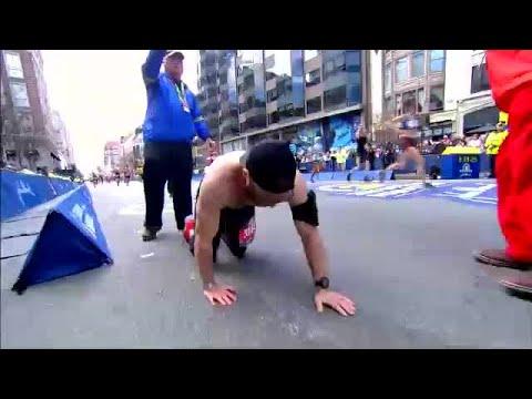 Melissa Forman in the Morning - MAN CRAWLS across FINISH LINE at the Boston Marathon