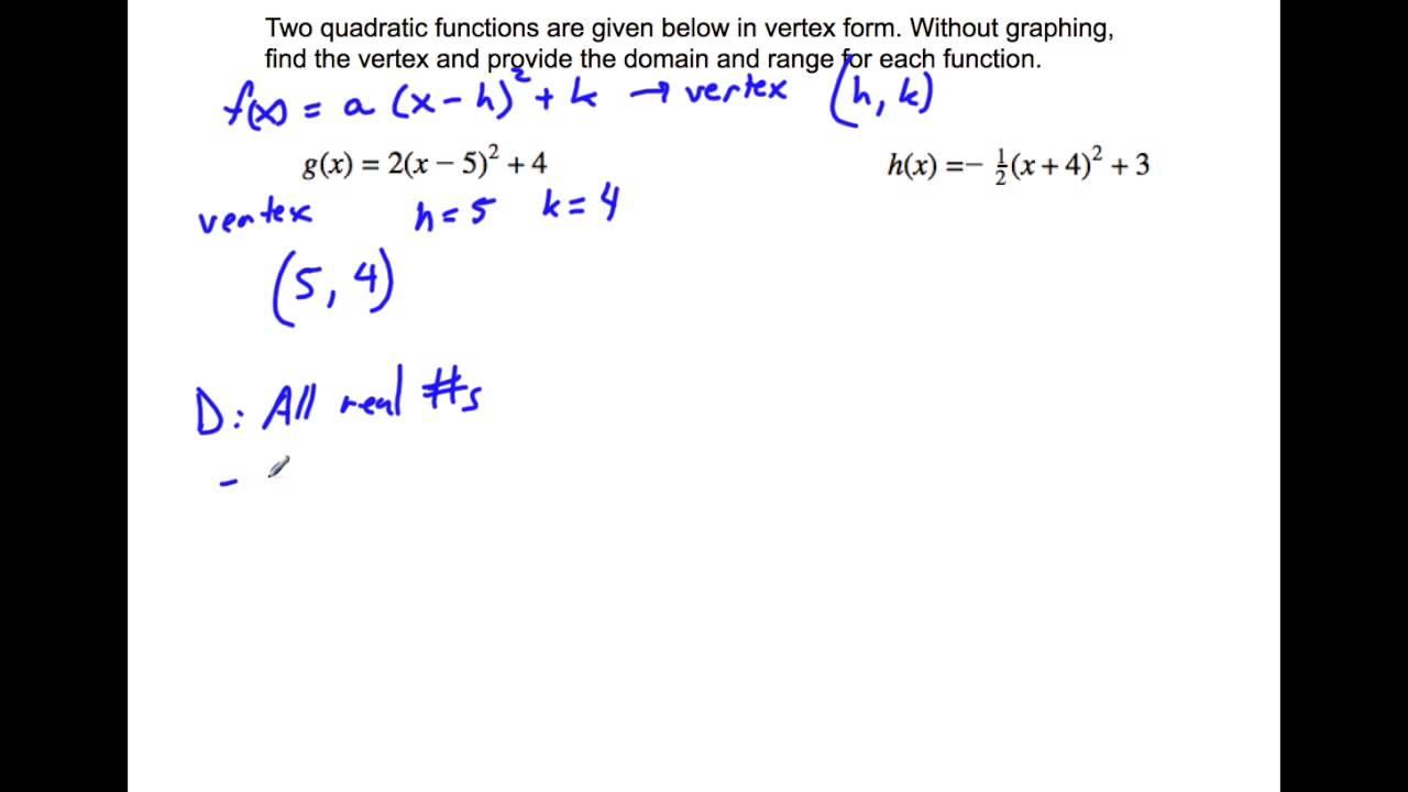 Finding the vertex of a quadratic function youtube finding the vertex of a quadratic function wicked math falaconquin