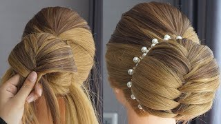 5 Minute French Bun Hairstyle Trick Beautiful Open Hairstyle For Wedding Easy Hairstyle
