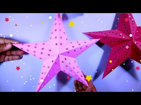 DIY 10 Christmas Star Tutorial - Step by Step || Home made Paper Star for Christmas decoration