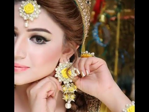 Flower Jewellery For Mehndi : Beautiful indian and pakistani brides in floral jewellery for their