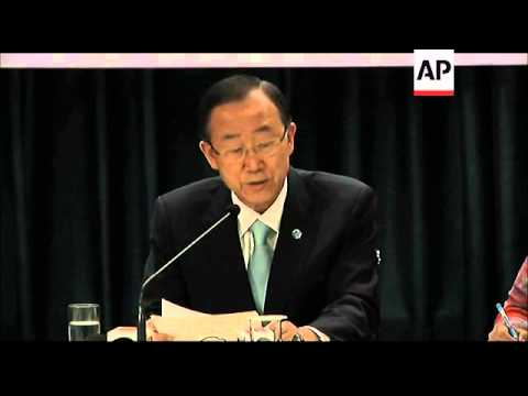 News conference by UN Secretary General  Ban ki-Moon on Syria