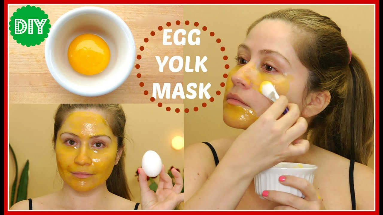 Egg yolk face mask - YouTube