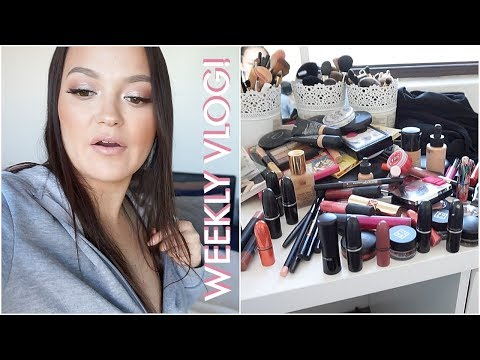 De-Cluttering My Makeup & More Hauls! WEEKLY VLOG #25 thumbnail