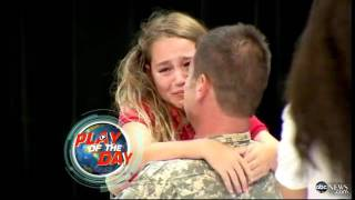 Soldier Surprises Daughter at Spelling Bee: Emotional Reunion Caught on Tape