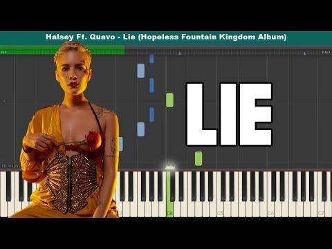 Lie Piano Tutorial - Free Sheet Music (Halsey Ft. Quavo)