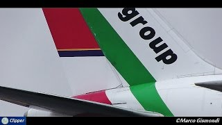 Air Italy / Meridiana hibrid livery B767-200 at Malpensa