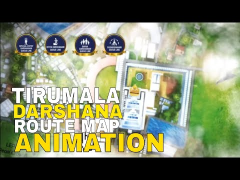 TIRUMALA DARSHANA ROUTE MAP  (Animation created by : Render View)
