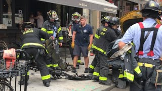 FDNY B0X 886 - FDNY, NYPD & EMS ON SCENE OF MVA WITH TAXI CAB INTO RESTAURANT ON 9TH AVENUE.