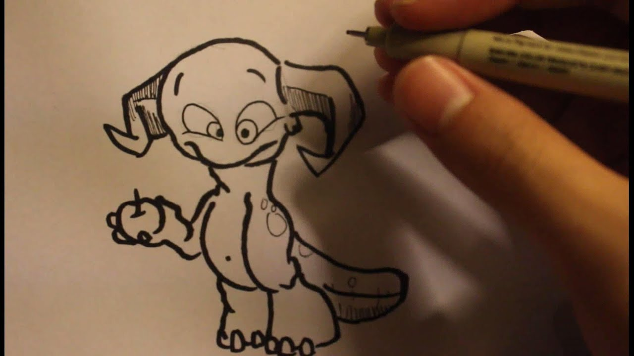 How to Draw a Cartoon Monster|Easy Drawings Step By Step ...