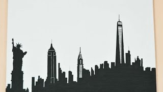 How To Draw A Skyline Silhouette Of New York - DIY Crafts Tutorial - Guidecentral