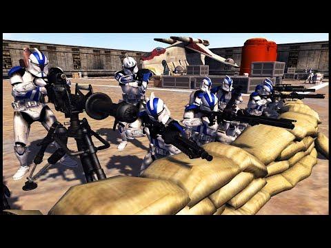 Captain Rex VS 1,000 Battle Droid Army! - Men Of War: Star Wars Mod Battle Simulator