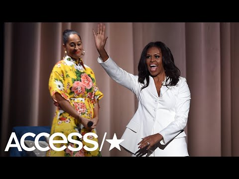 Michelle Obama Takes A Slight Swipe At President Trump During Her Book Tour! | Access
