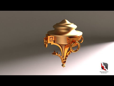 Wings3d: Peter Stammbach's Ornament Shape [Luxology Modo]