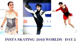 Insta Skating: 2019 Worlds Day 2 (Yuzuru Hanyu, Evgenia Medvedeva, Alina Zagitova, Rika Kihira)