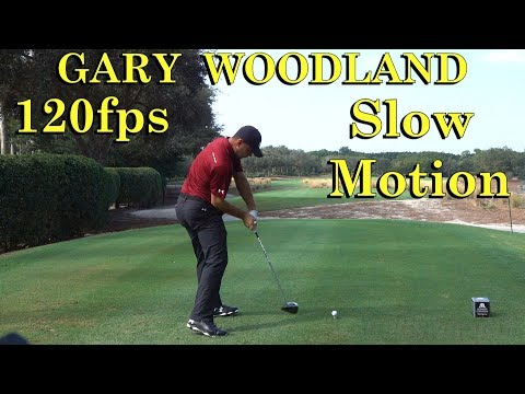 GARY WOODLAND 120fps SLOW MOTION DTL DRIVER GOLF SWING 1080 HD