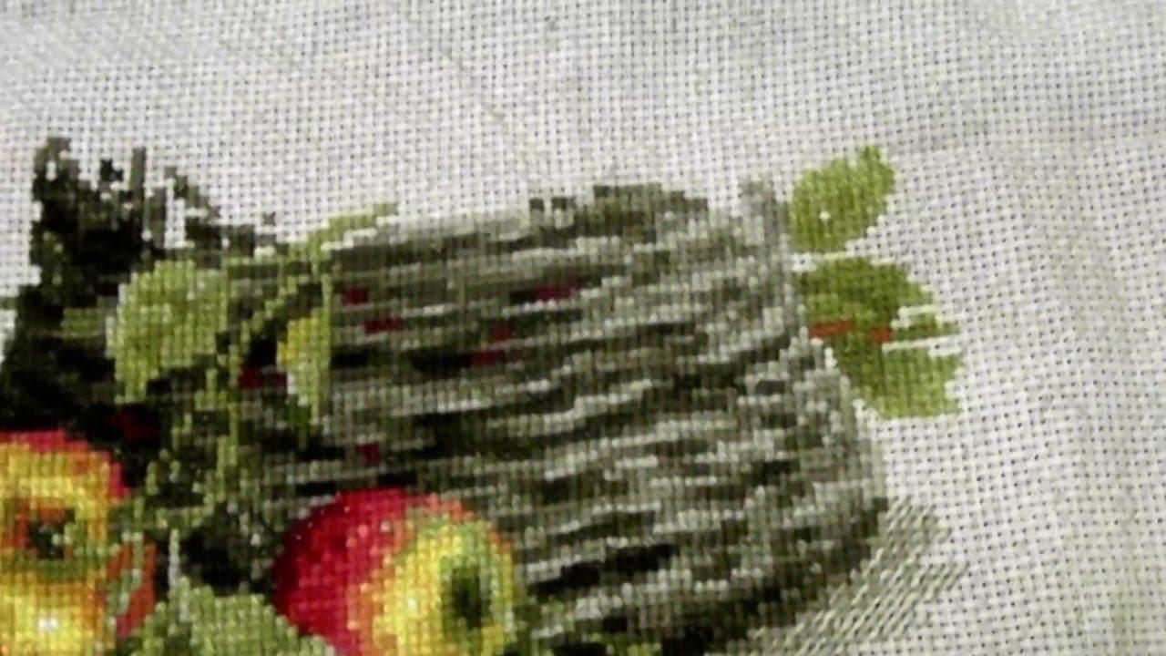 Яблоки вышивка крестиком