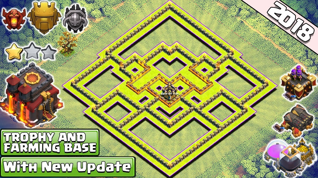 Best New Town Hall 10 Base For 2018 Th10 Trophy And Farming Base