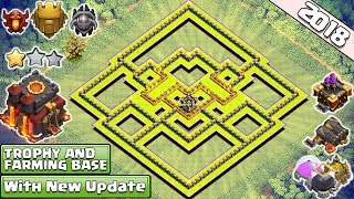 BEST! NEW! Town Hall 10 Base for 2018 | th10 Trophy and Farming Base 2018 - Clash of Clans