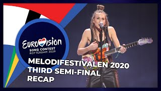 Melodifestivalen 2020 (Sweden) | Third Semi-Final | RECAP
