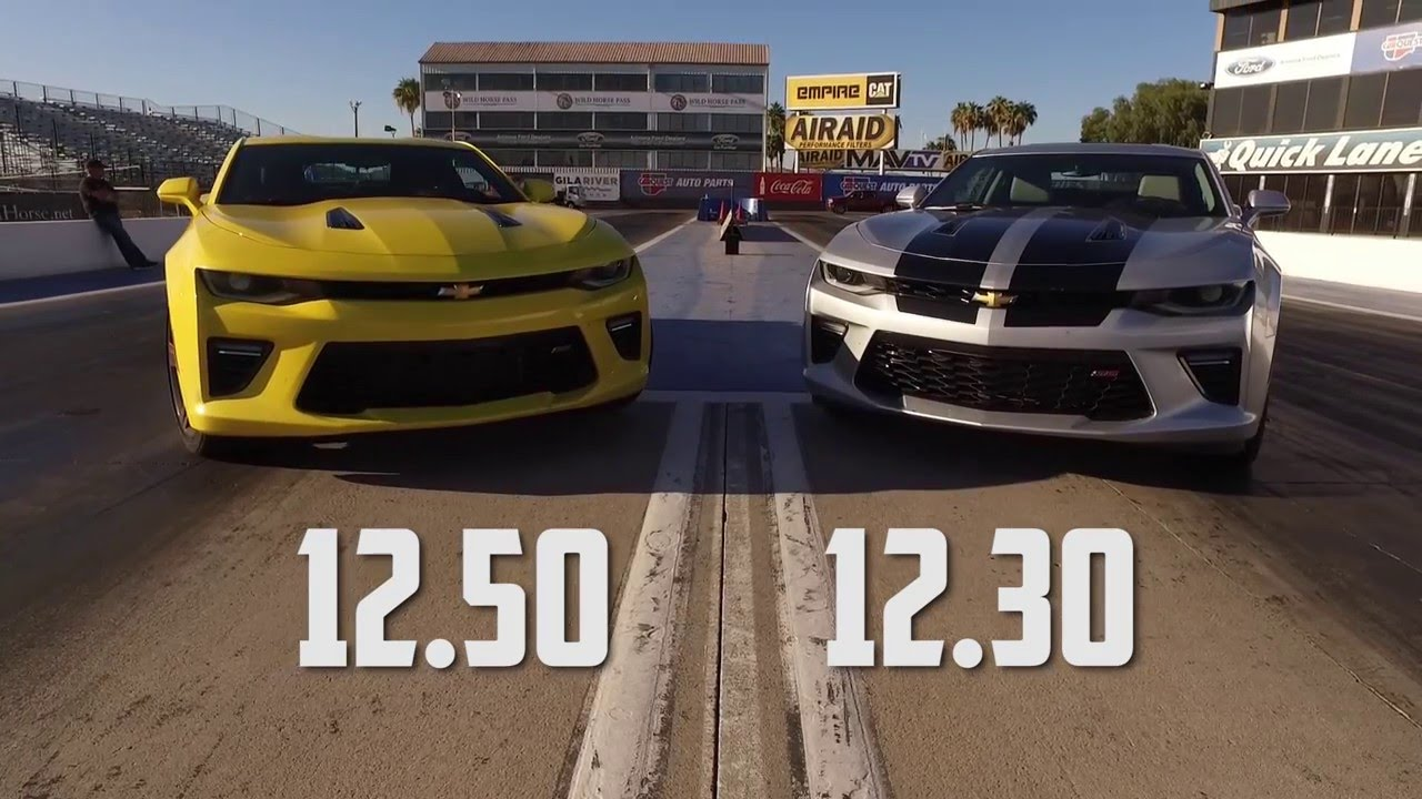 2016 Chevy Camaro Ss Drag Test Auto Vs Manual With Jeff Manual Guide