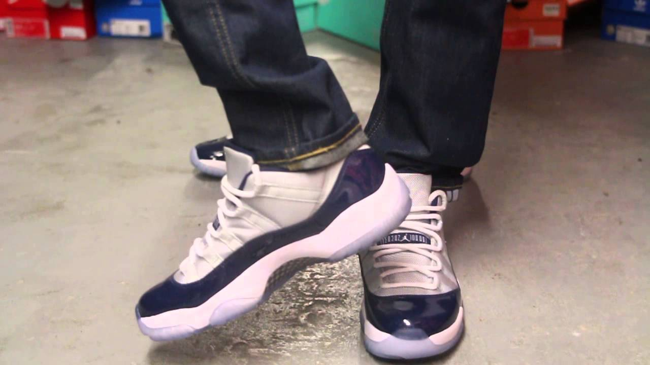 8461edfd486e5e ... discount air jordan 11 retro low georgetown on feet video at exclucity  youtube 7b23a 59828