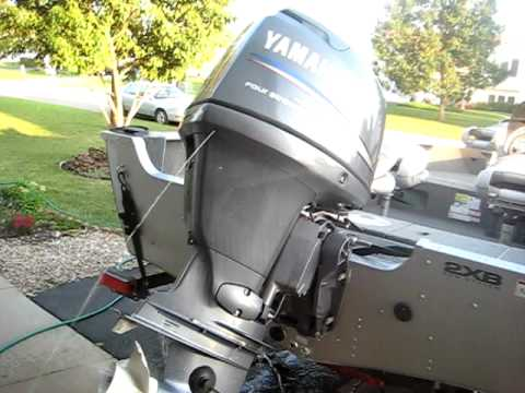 Unclogging Yamaha outboard engine  YouTube