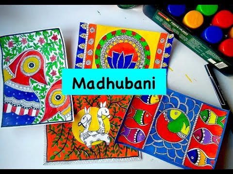 MADHUBANI MITHILA PAINTING || MADHUBANI ART || INDIAN FOLK ART Part 2