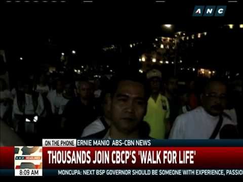 Thousands join CBCP's 'Walk for Life'