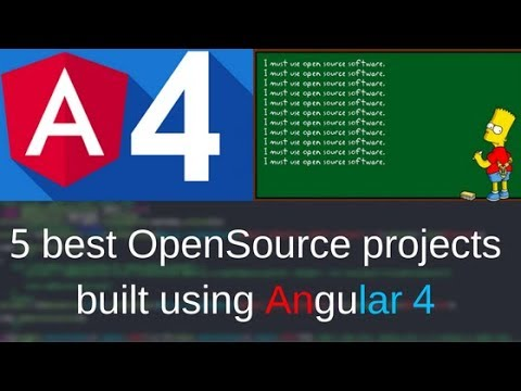 5 Best Opensource Project Built using Angular 4