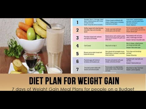 Healthy Diet Plan For Weight Gain