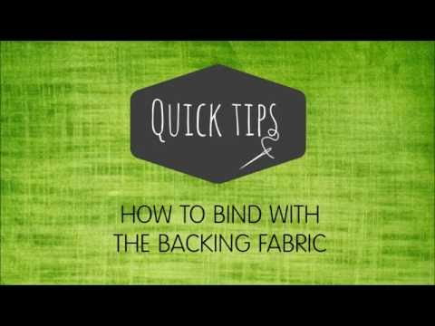 Binding Using The Backing Video