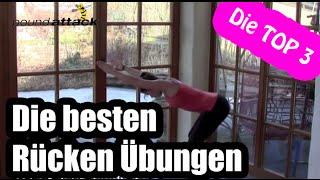3 TOP Rücken Übungen | Die besten Rückenübungen für einen starken Rücken | by poundattak