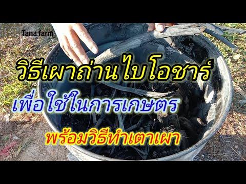 วิธีเผาถ่านไบโอชาร์เพื่อใช้ในการเกษตรพร้อมวิธีทำเตาเผา