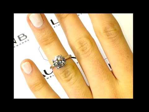 2.50 ct Round Diamond Engagement Ring in a Classic Cathedral Style