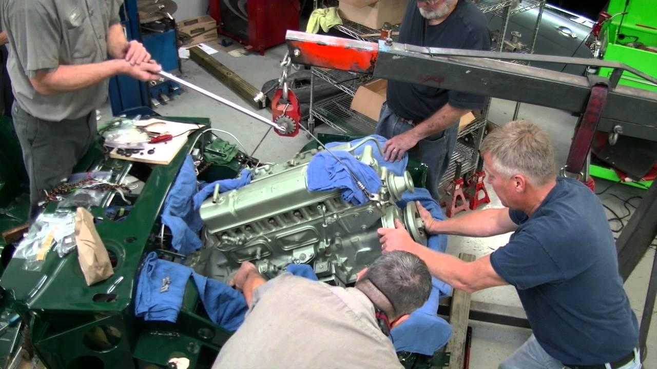1967 Austin Healey 3000 Bj8 Engine And Trans Installation