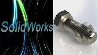 SolidWorks. Построение резьбы. (Урок 13) / Уроки SolidWorks
