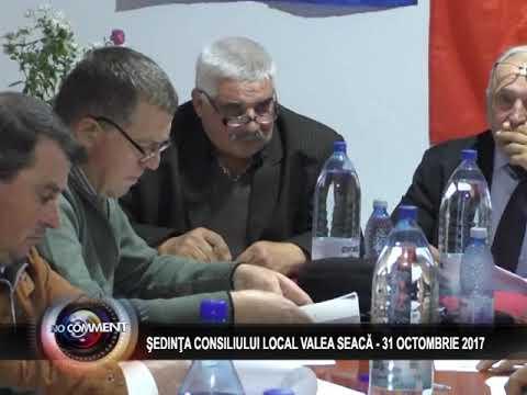 ŞEDINŢA CONSILIULUI LOCAL VALEA SEACĂ - 31 OCTOMBRIE 2017