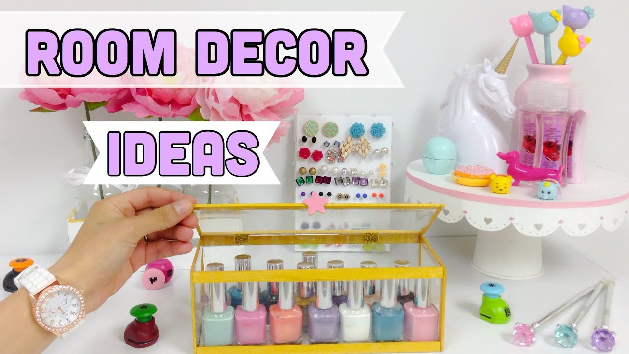 Bedroom Decor Crafts easy & cheap room decor ideas (crafts with recycled items) - youtube