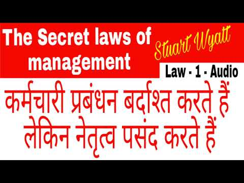 MANAGEMENT LAWS II THE SECRET LAWS OF MANAGEMENT BY STUART WYATT II MANAGEMENT LAW 1