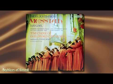"""""""Highlights from Messiah"""" (G F Handel) LP 1973  - Guildford Cathedral Choir (Barry Rose)"""