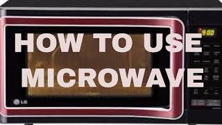 LG MICROWAVE DEMO FOR BEGINNER(HINDI) # 20 #